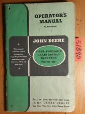 John Deere Series 46 Steel Portable Grain & Hay Elevator Owner Operator's Manual
