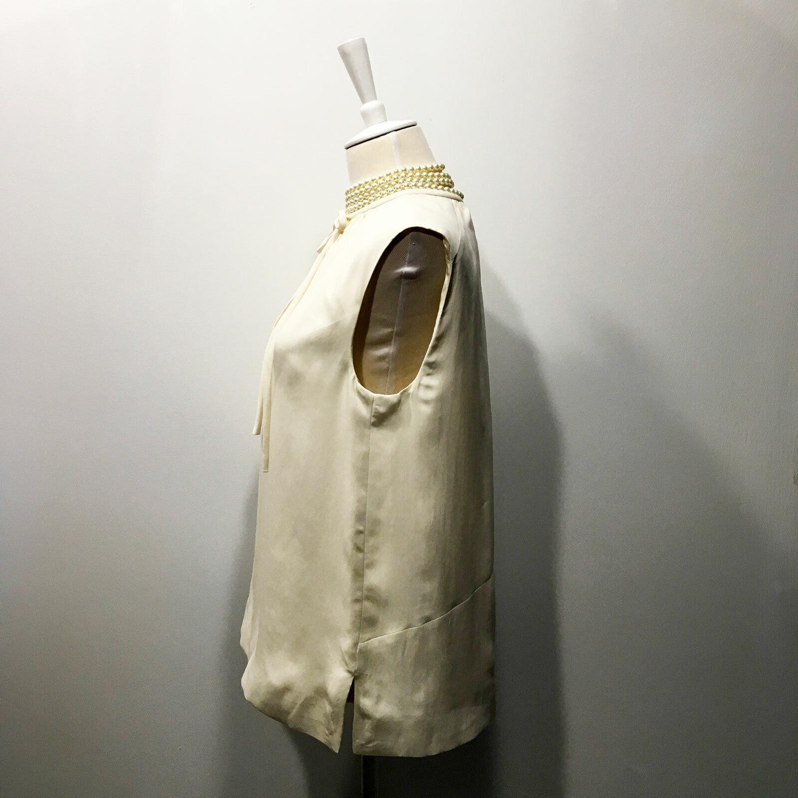 Balenciaga | $945 Ivory One-Shoulder  Pleated Dra… - image 8