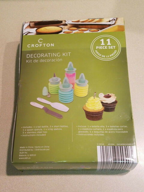 NEW CHILDRENS 11 PCE SILICONE BAKING SET CAKE MOULDS CUTTERS SPATULA BRUSH SALE