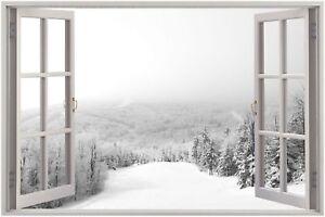Huge-3D-Window-view-Beautiful-winter-Wall-Sticker-Film-Mural-Art-Decal-34