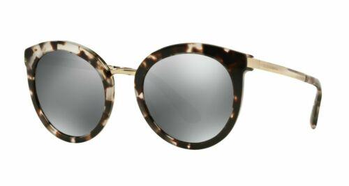Sunglasses 52-22 Dolce /& Gabbana DG4268 Fog Havana//Grey Black Mirror 2888//6G