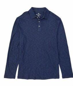 Tommy-Bahama-Men-s-SZ-Large-La-Jolla-Cove-Long-Sleeve-Polo-Shirt-Maritime-Blue