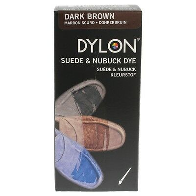 Dylon Tinte Zapato Bota Zapatos De Gamuza Con Pincel Aplicador varios Tela
