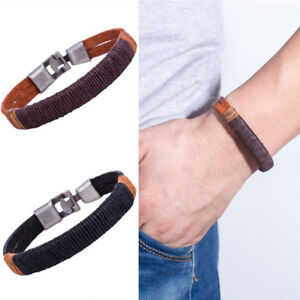 Fashion-Surfer-Men-Vintage-Rope-Wrap-Leathers-Wristband-Bracelets-Cuff-Brown2-GQ