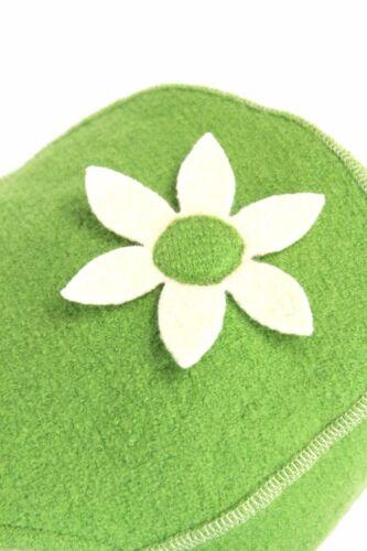 46-54 Wintermütze Schurwolle Baumwolle Wollfleece grün Neu PICKAPOOH Mütze Gr