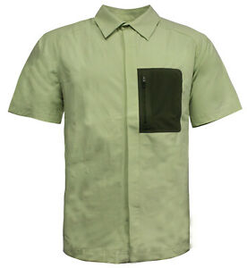 Nike-ACG-Mens-Button-Up-Shirt-Top-All-Conditions-Gear-Green-157940-360-M17