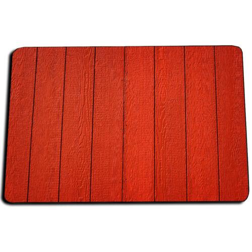 Red Barn Wood Floor Planks Boards Design Indoor Rug Door Mat