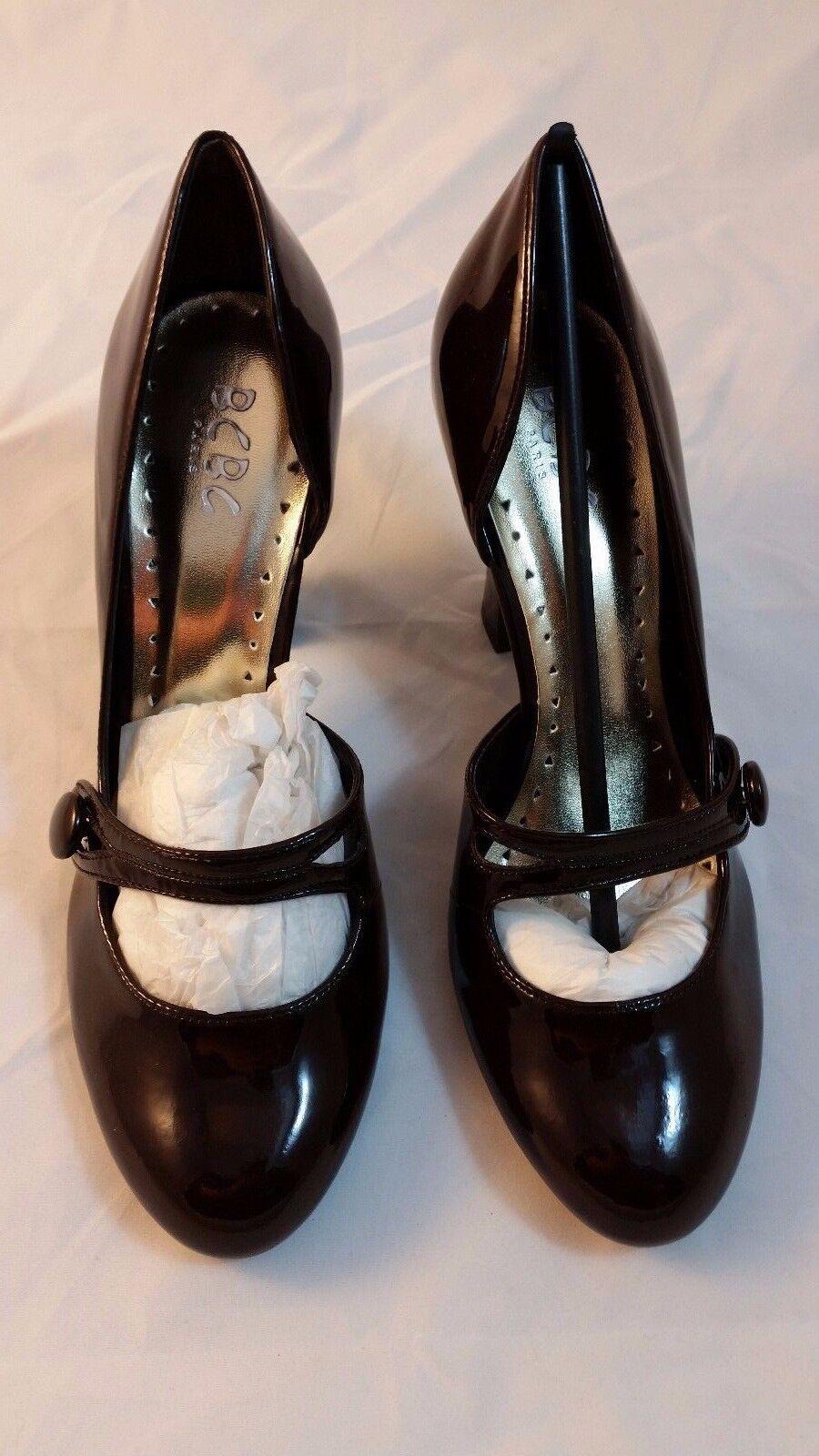 NEW Womens Womens Womens BCBG Mary Jane Rounded Toe Brown Black Heels shoes 10 NIB 880e96