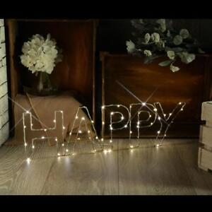 Details About Lyyt 155 665 Brighten Up Any Room Decorative Small Led Happy Wire Frame Lights