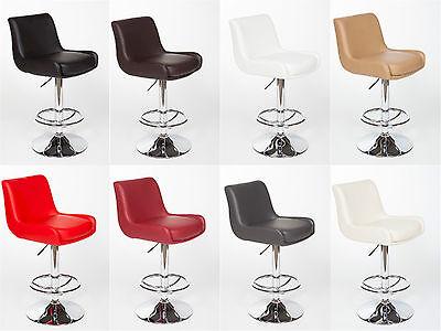 """2 Modern Adjustable """"Leather"""" Swivel Pub Style Bar Stools / Barstools #7042"""