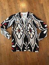 Anthropologie Field Flower Soutine Button Front Bracelet 3/4 Sleeve Cardigan L