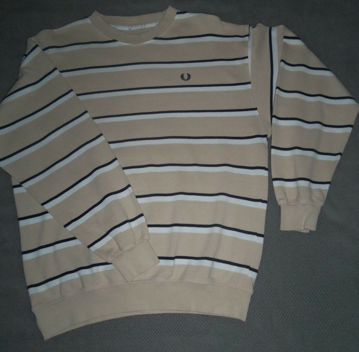Fred Perry Long Sleeve Jumper Medium - 100% cotton