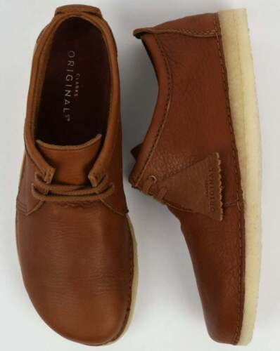 Clarks Originals Ashton Leather Shoes BNIBWT Cola