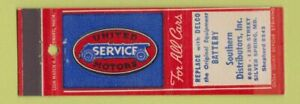 Matchbook-Cover-United-Motors-Service-Delco-Battery-Silver-Spring-MD