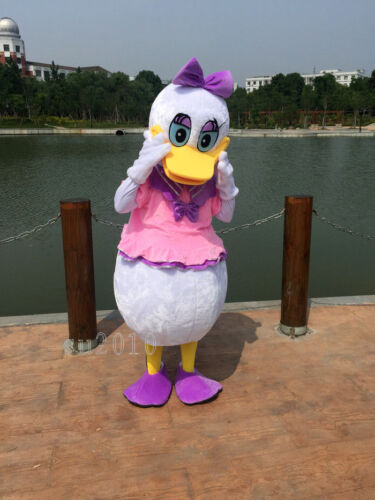 Donald /& Daisy Duck Mascot Costume Dress Disney Cosplay Cartoon Outfit Party NEW