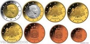 LETLAND-UNC-EURO-SET-2014-Serie-van-8-munten-1-cent-2-euro