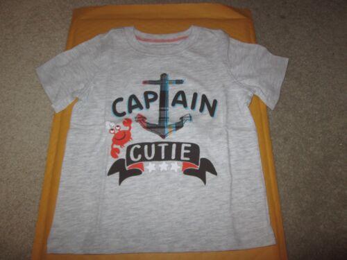JUMPING BEANS BABY BOY 24 MONTHS CAPTAIN CUTIE NAUTICAL TEE SHIRT NEW