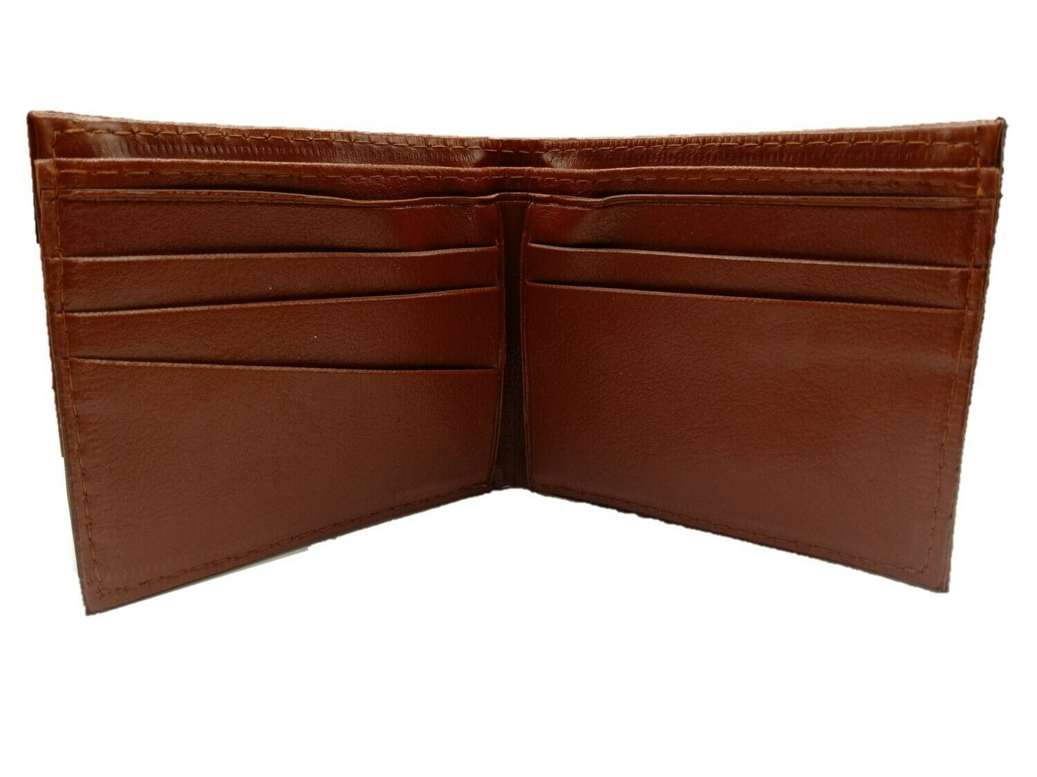 Wallet Purse Men Man Faux Leather Ideal for Christmas Xmas Present Gift Brown