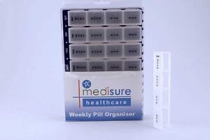 Medisure 7 Day Weekly Jumbo Large Pill Box With 28