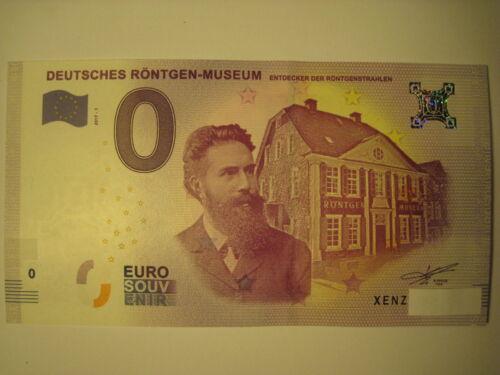 0 Euro Souvenirschein Deutsches Röntgen-Museum XENZ billet touristique 2017-1