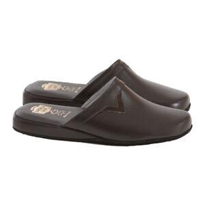 Ciabatte da Camera Uomo | Pantofole VERA PELLE Made in Italy per Casa e Parquet