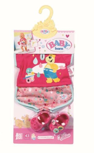 BABY born Bath Shorty Pyjama mit Clogs Schlafanzug Puppenkleidung Zapf