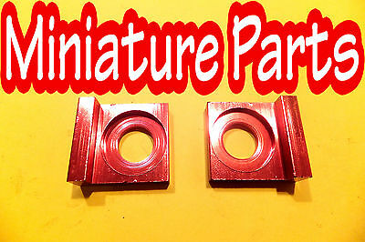 PITBIKE CHAIN TENSIONER ADJUSTER BLOCK CRF70 BIG STYLE 15MM SPINDLE HOLE RED