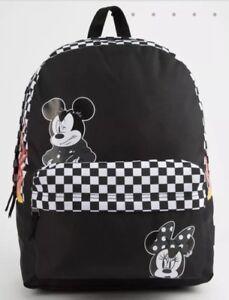 03fbfbc826c Vans x Disney Realm Backpack Punk Mickey Mouse Minnie Black White ...
