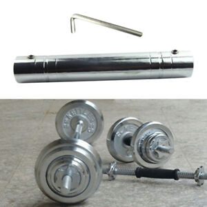 12-039-039-Steel-Dumbbell-Connecting-Bar-Connector-Extender-Joint-Rod-Accessories