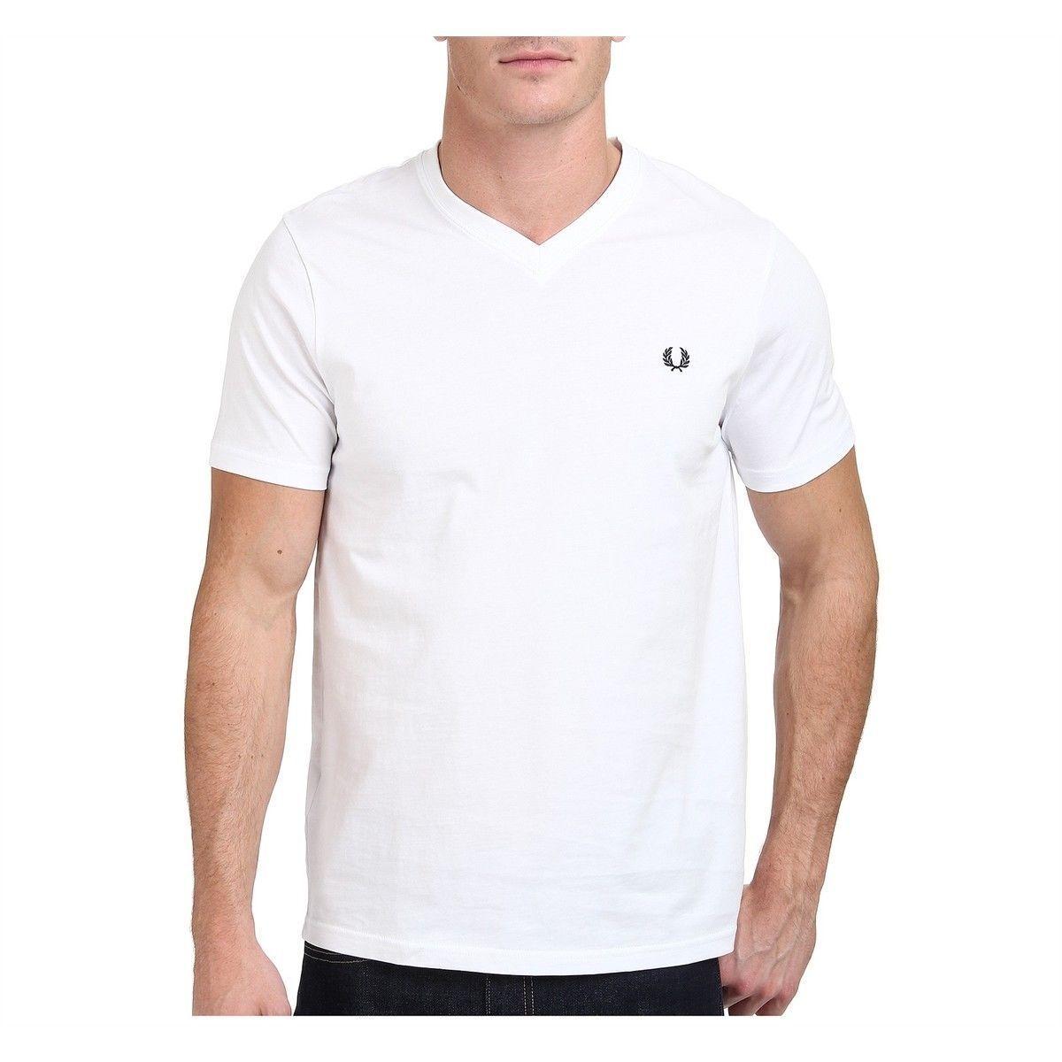 Fred PERRY T SHIRT V NECK T-shirt scollo V t shirt a maniche corte