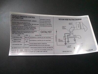 BMW M3 e30 engine restoration emission control sticker vinyl decal
