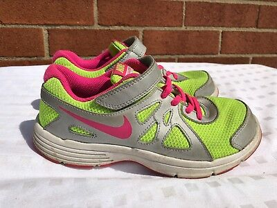 Boys' Shoes Fine Nike Revolution 2 Yellow Pink 555091-761 Kids Us Size 2.5 Y Clothing, Shoes & Accessories
