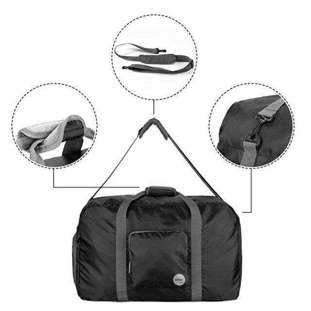 f815963eda91 Wandf 85l Foldable Travel Duffel Bag Luggage Sports Gym Water Resistant  Nylon