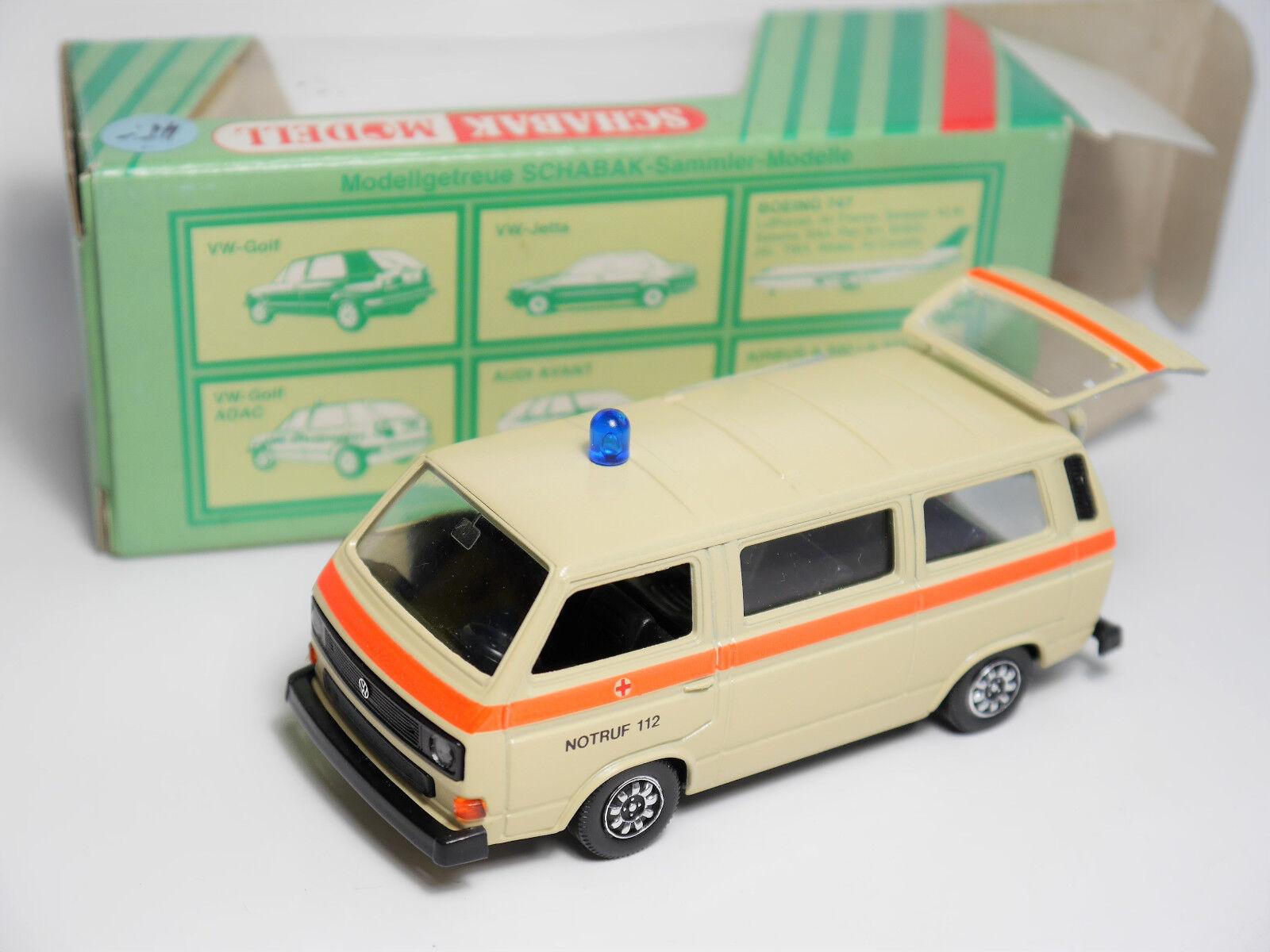 VW Kombi bus t3 T 3 Caravelle Syncro DRC RTW  Emergency 112 , Schabak 1 43 Boxed a