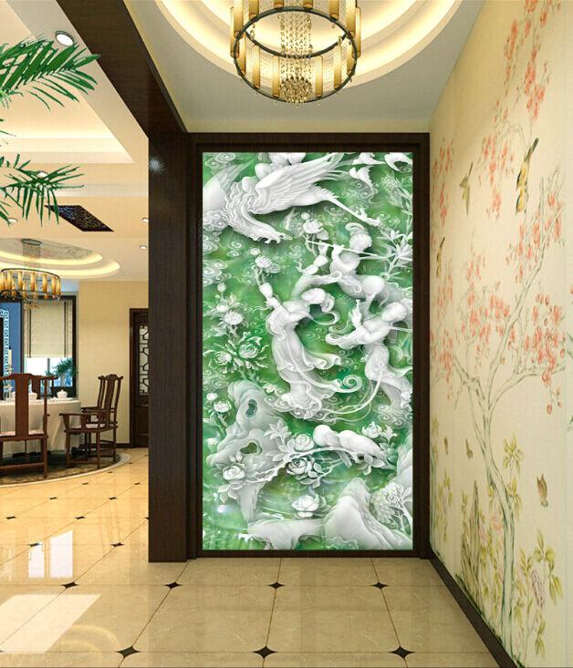 3D Jade Carving Fairy 2 Paper Wall Print Decal Wall Wall Murals AJ WALLPAPER GB