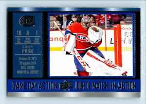 2016-17 Upper Deck Tim Hortons Game Day Action Carey Price #GDA-8