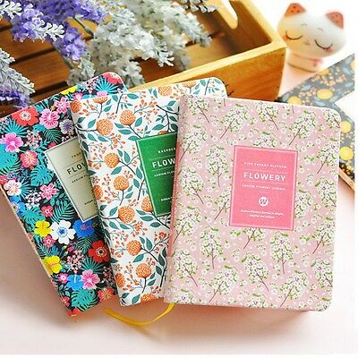 1PC Floral Flower Schedule Book Diary Weekly Planner Notebook Office School
