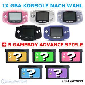 GameBoy-Advance-GBA-Konsole-Farbe-nach-Wahl-5-Nintendo-GB-Spiele