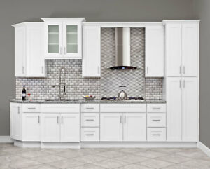 Image Is Loading All Solid Wood KITCHEN CABINETS ALPINA WHITE 10x10