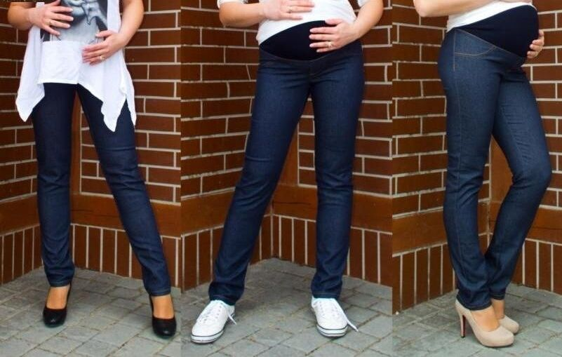 96eaac30b1e78 Maternity Cotton STRETCHY Leggings Over Bump Skinny Jeans Trousers Pregnancy  Pants L NEW