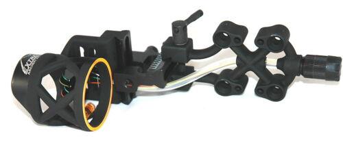 Pins w// Purple Haze Light New Extreme Raptor 911 Bow Sight Black 4 .019
