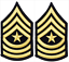 2-Pair-US-Army-Sergeant-Major-E-9-Rank-Gold-on-Blue-Chevron-Patches-Male thumbnail 1