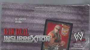 WWE-WWF-RAW-DEAL-Insurrextion-STARTER-DECKS-SEALED-BOX