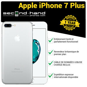 Apple-iPhone-7-Plus-32Go-Argent-Deverouillage-d-039-usine-Bon-Garantie-1-an