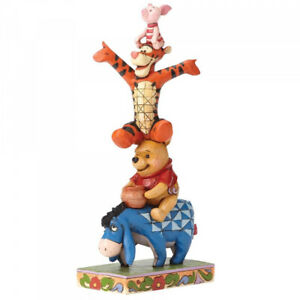 NEW-Built-by-Friendship-Pooh-Tigger-amp-Piglet-Figurine-Disney-Traditions