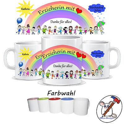 Personalisierbare Tasse als Abschiedsgeschenk für Erzieherin