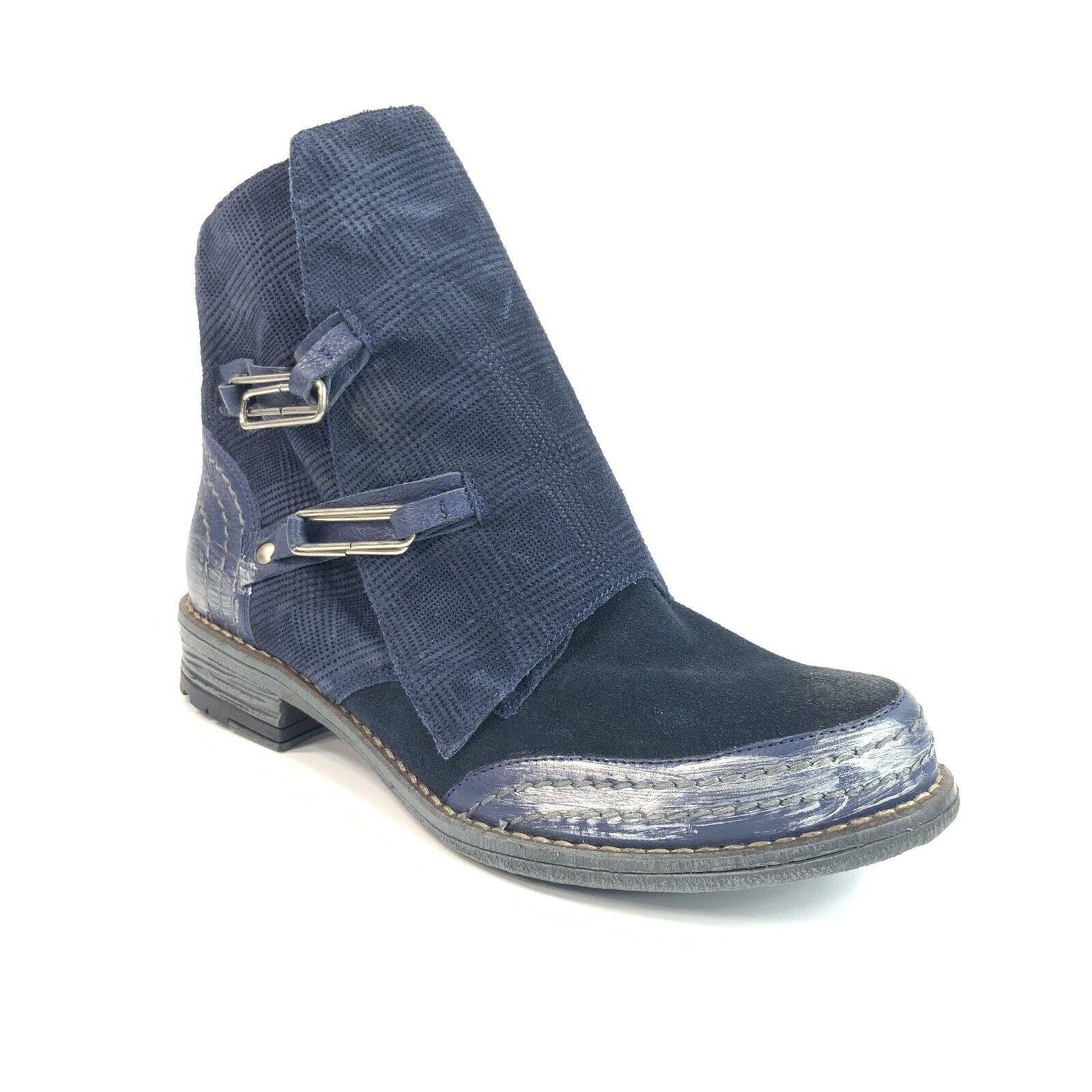 Maciejka Women's Size 37 Navy Leather Ankle Bootie