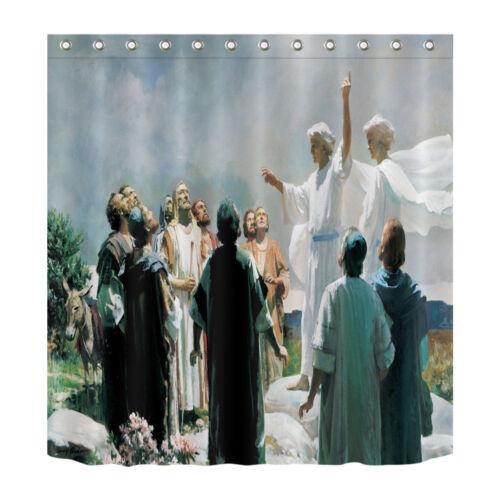 """Jésus enseignement 71X71/"""" Rideau De Douche Tissu Polyester panneaux religieux crois"""