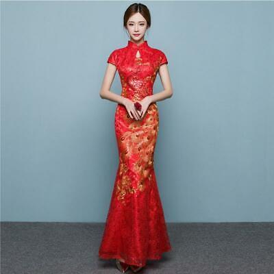 Cheongsam Traditional Chinese Wedding Dress Qipao Oriental Evening Dress Xs Ebay