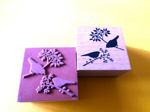 Motivstempel Vögel Spatzen Stempel Stamping 39x39 mm Kartengestaltung Basteln
